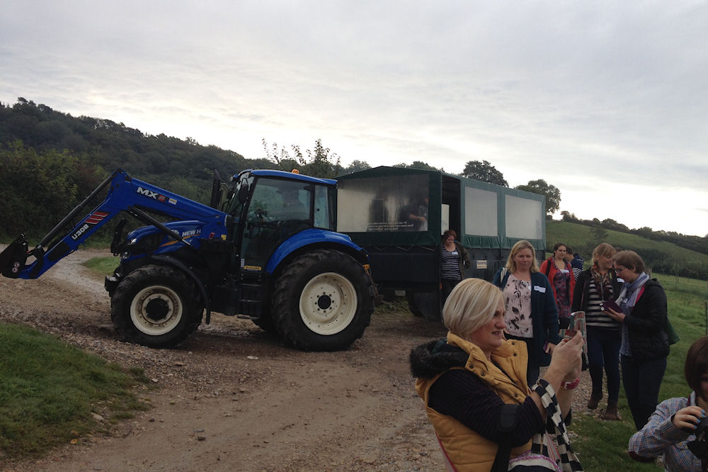 Picture of River Cottage's Blue Tractor Trailer