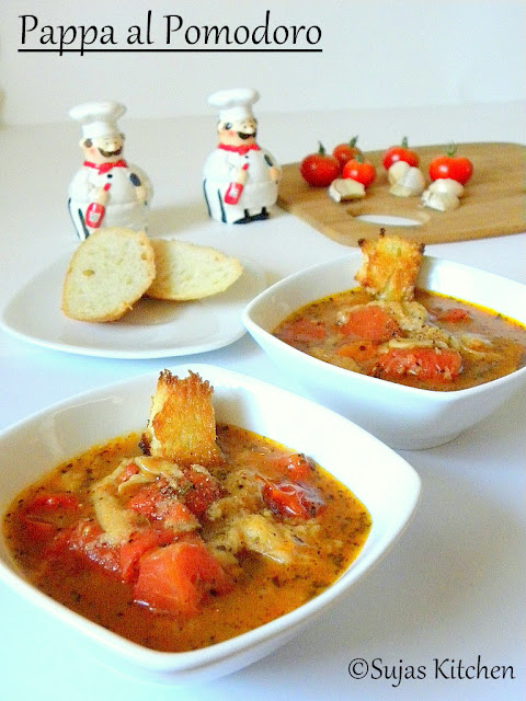 Pappa al Pomodoro (Roasted Tomato Soup), hearty tomato-bread soup,