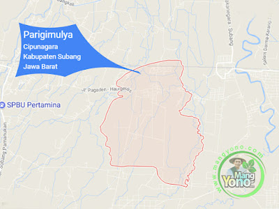 PETA :  Desa Parigimulya, Kecamatan Cipunagara