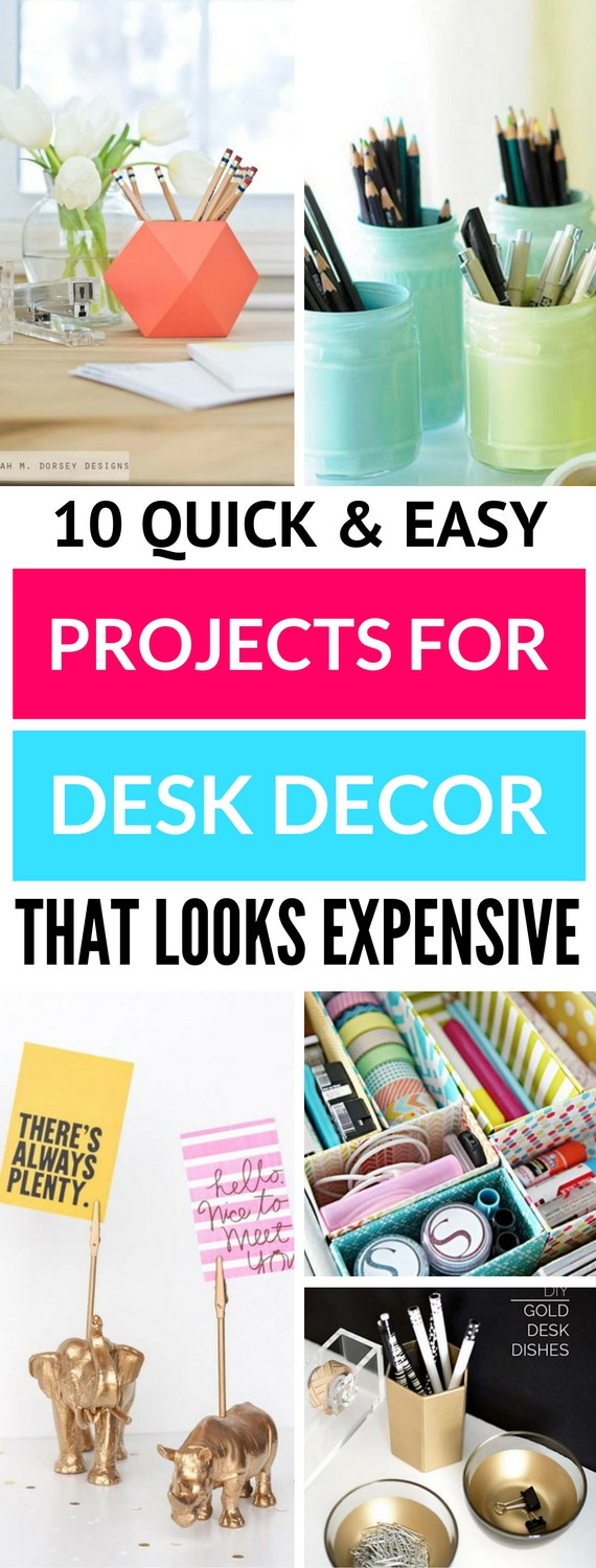 10 Irresistible Diy Crafts For Your Desk Decor You Ll Really Want To Do Craftsonfire