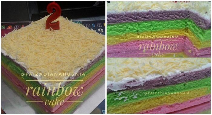 Resep Rainbow Cake Sederhana Ala Ny. Liem. Teksturnya ...