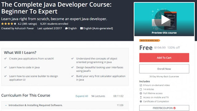 [100% Off] The Complete Java Developer Course: Beginner To Expert| Worth 194,99$