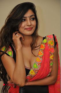 Actress Vaibhavi Joshi Pictures in Red Saree at Guntur Talkies 2 Movie Opening  0025.JPG