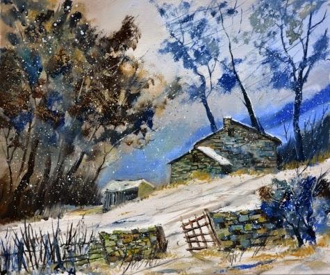 Inverno - Cores fortes e vibrantes nas pinturas de Pol Ledent