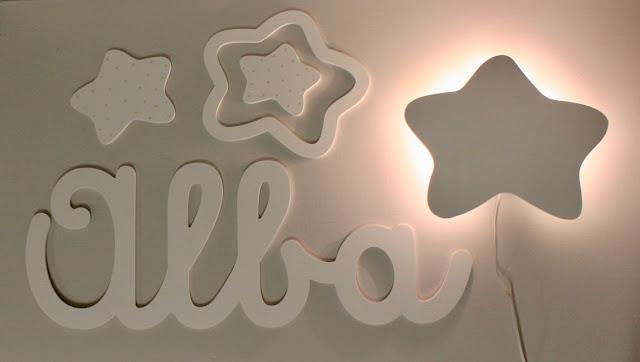 letras y nombres en caligrafía para decoración infantil personalizada