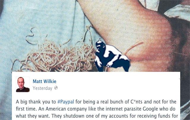 Matt Wilkie Philippines-Congratulations PayPal!