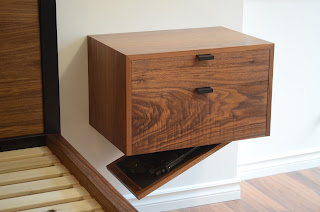 bedside table hidden compartment