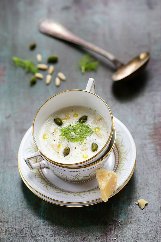 Quinze recettes de soupes chic pour les fêtes. Soupe fenouil parmesan