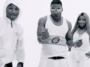 Nelly : American rapper unveils his new video with Nicki Minaj and Pharrell Williams!
