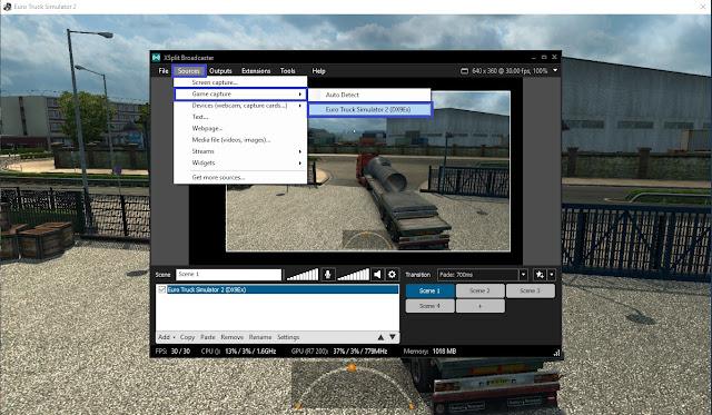 Setting Xsplit Broadcaster