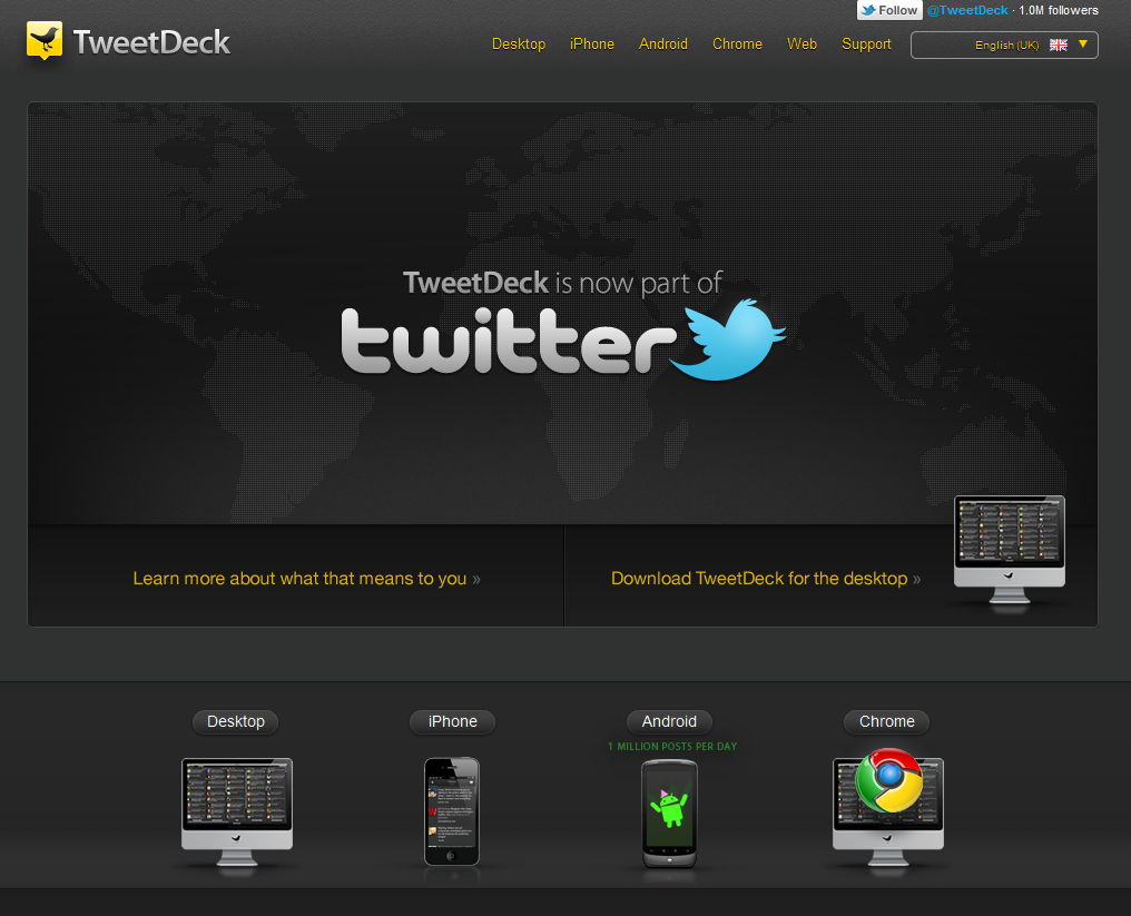Web TweetDeck is now out! - rj california