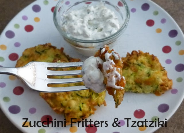 Featured Recipe | Zucchini Fritters and Tzatziki Sauce from Making Memories With Your Kids #SecretRecipeClub #recipe #appetizer #side #zucchini