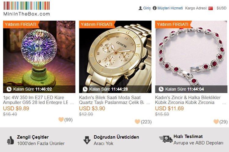 En Güvenilir Çin Alışveriş Siteleri - Miniinthebox