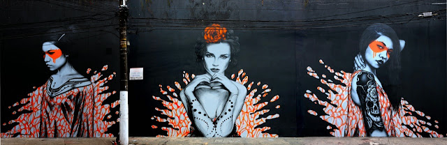 """Splash"" a new sexy street art collaboration by Fin DAC and Angelina Christina in Sao Paulo Brazil. 2"