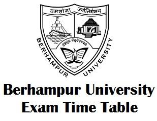 Berhampur University Timetable 2018
