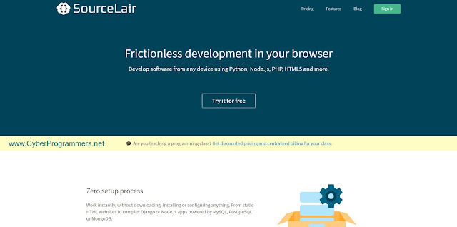 SourceLair online IDE