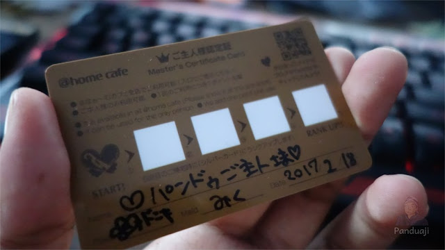 Home Cafe member card