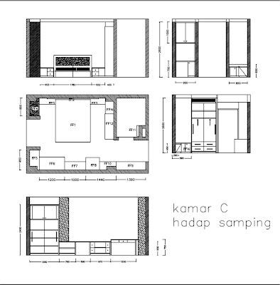 Layout Desain Interior Kamar Kos Jakarta Kamar C Hadap Samping