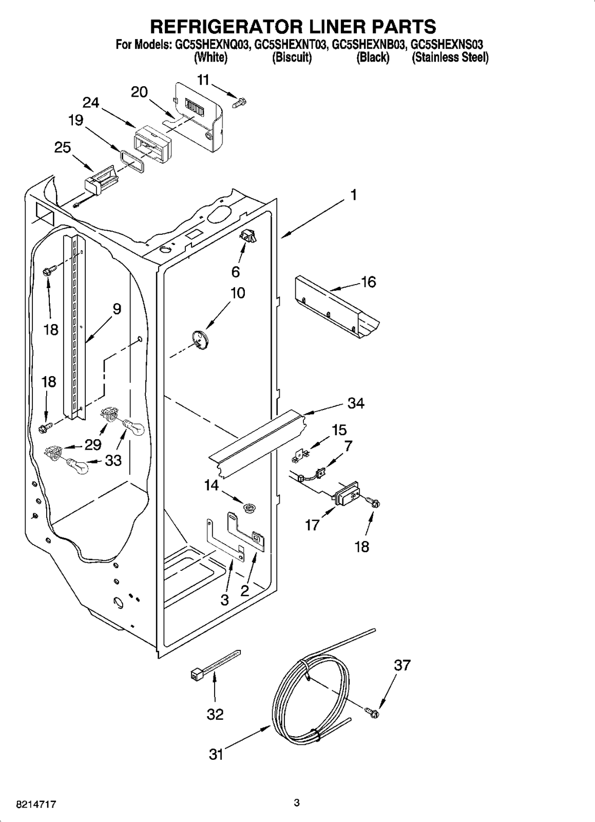 Led Electronics Usa Gc5shexns03 Refrigerator Compartment