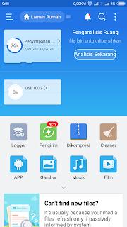 Membaca hardisk dan flashdisk NTFS di Xiaomi Note 3 Pro via USB OTG