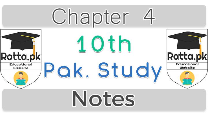 10th Pak Studies Chapter 8 Notes