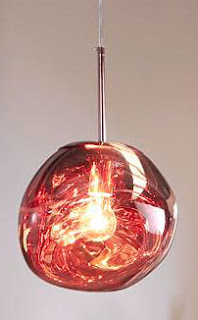 lampara techo cristal bronce