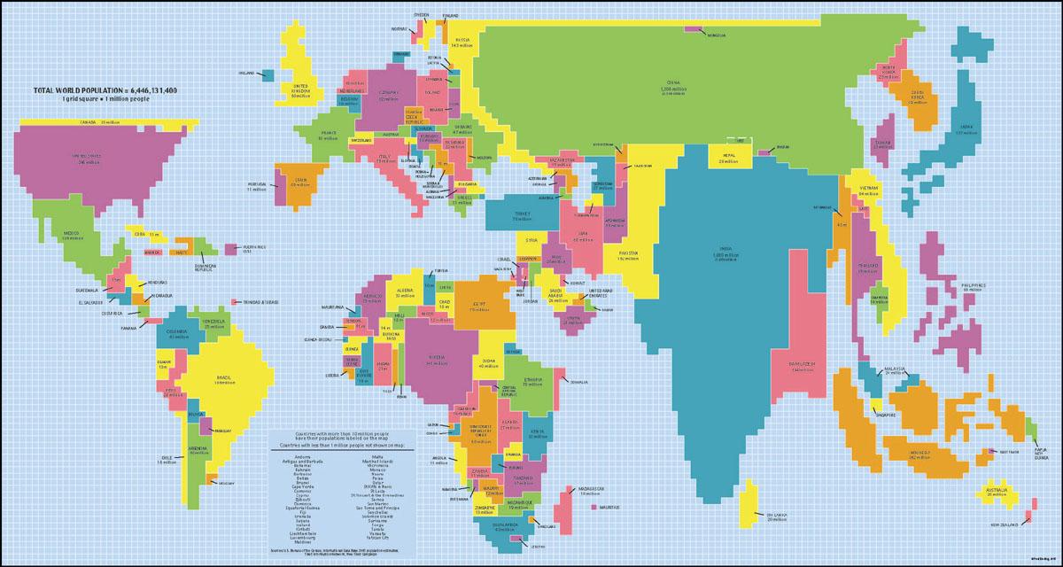 Karta över Världen Region Politiska