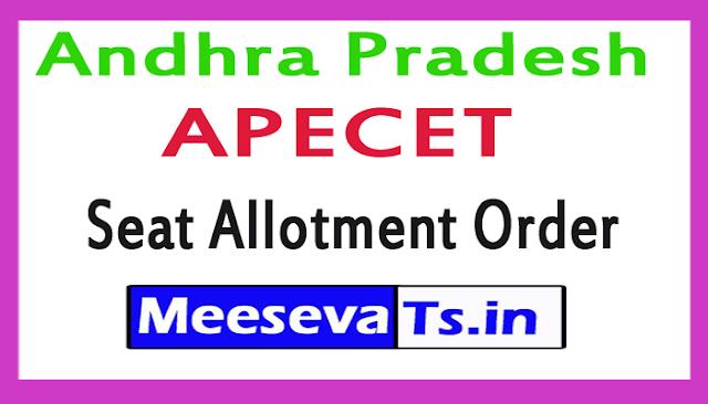 Andhra Pradesh AP ECET Seat Allotment Order