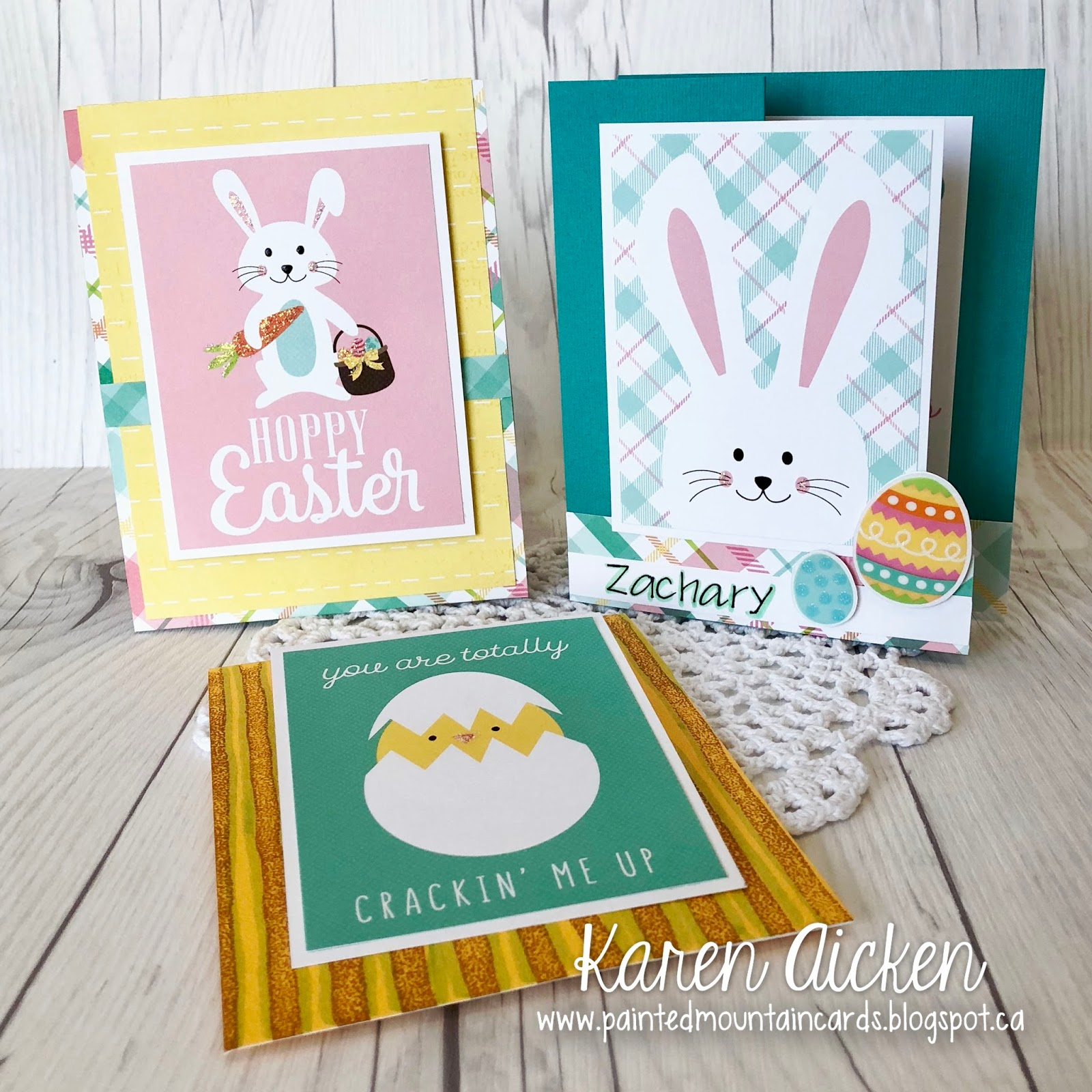 painted mountain cards c4c 427 three kids easter cards