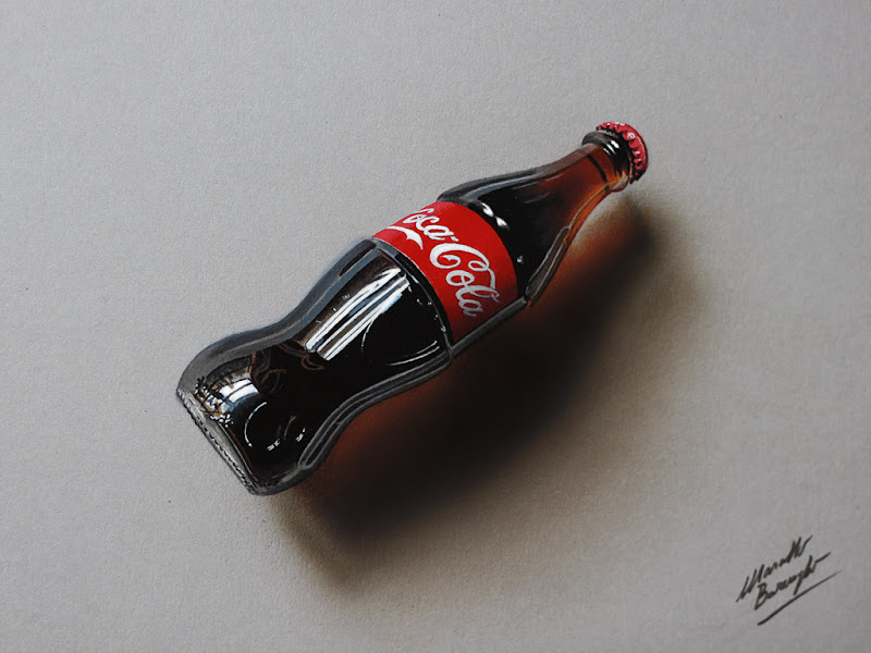 Coca-Cola bottle - drawing - Marcello Barenghi