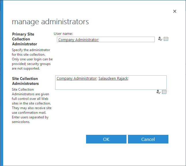 sharepoint online get site collection administrators