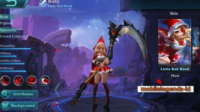 Cara Pakai Hero Ruby Mobile legends