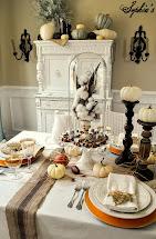 Sophia' Thanksgiving Table Setting