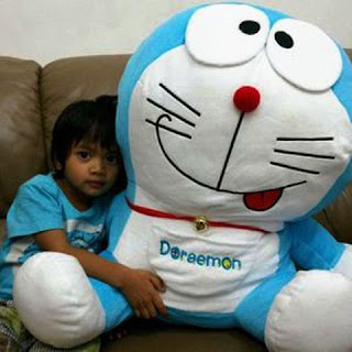 Gambar lucu boneka doraemon ukuran besar murah