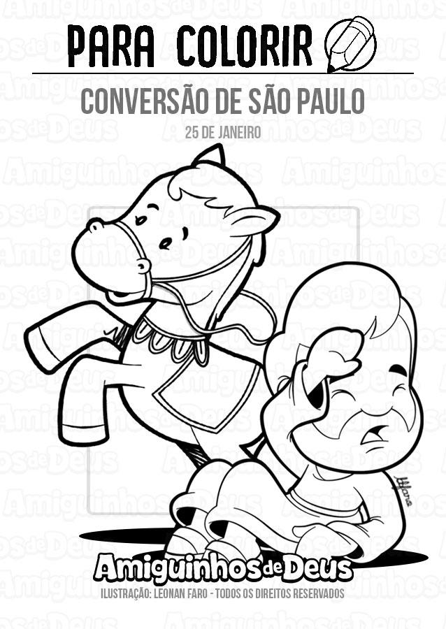 Conversão de São Paulo desenho para colorir