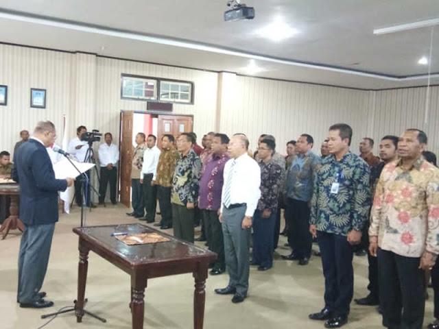 Anderias Rentanubun Dilantik Jadi Ketua KONI Malra 2018-2022