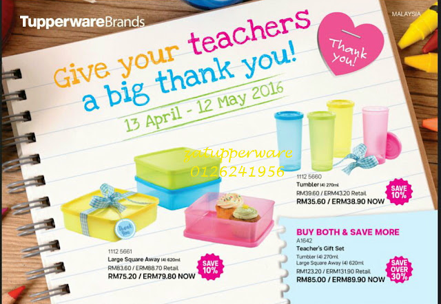 Tupperware Promo 13th April- 12th May 2016