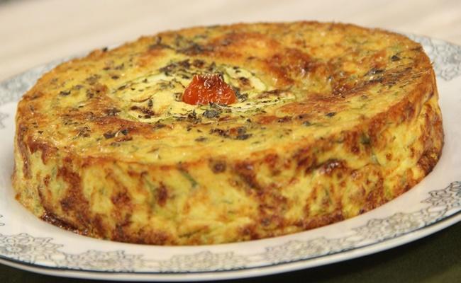 Torta de Abobrinha Vegetariana