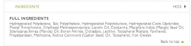 ingredients in the body shop's hydrating lip care product