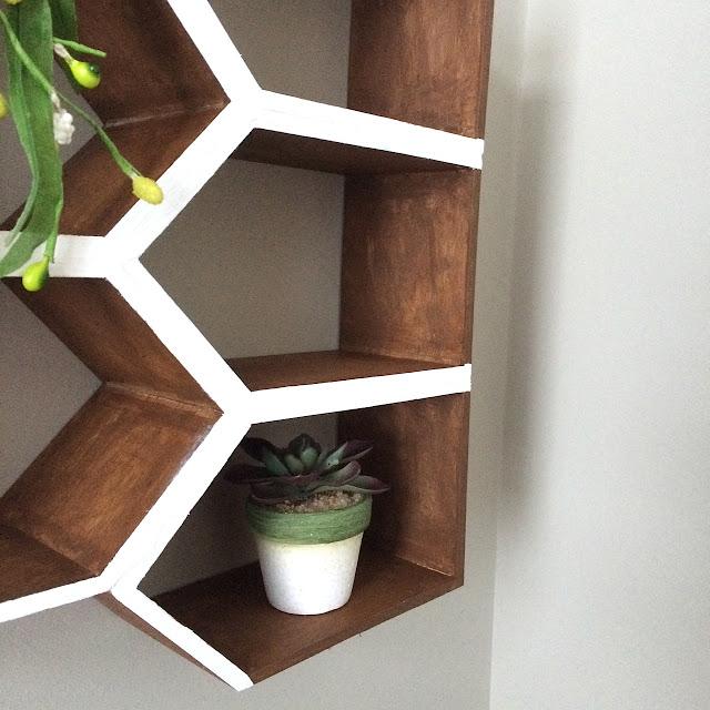 DIY Geometric Wall Shelf