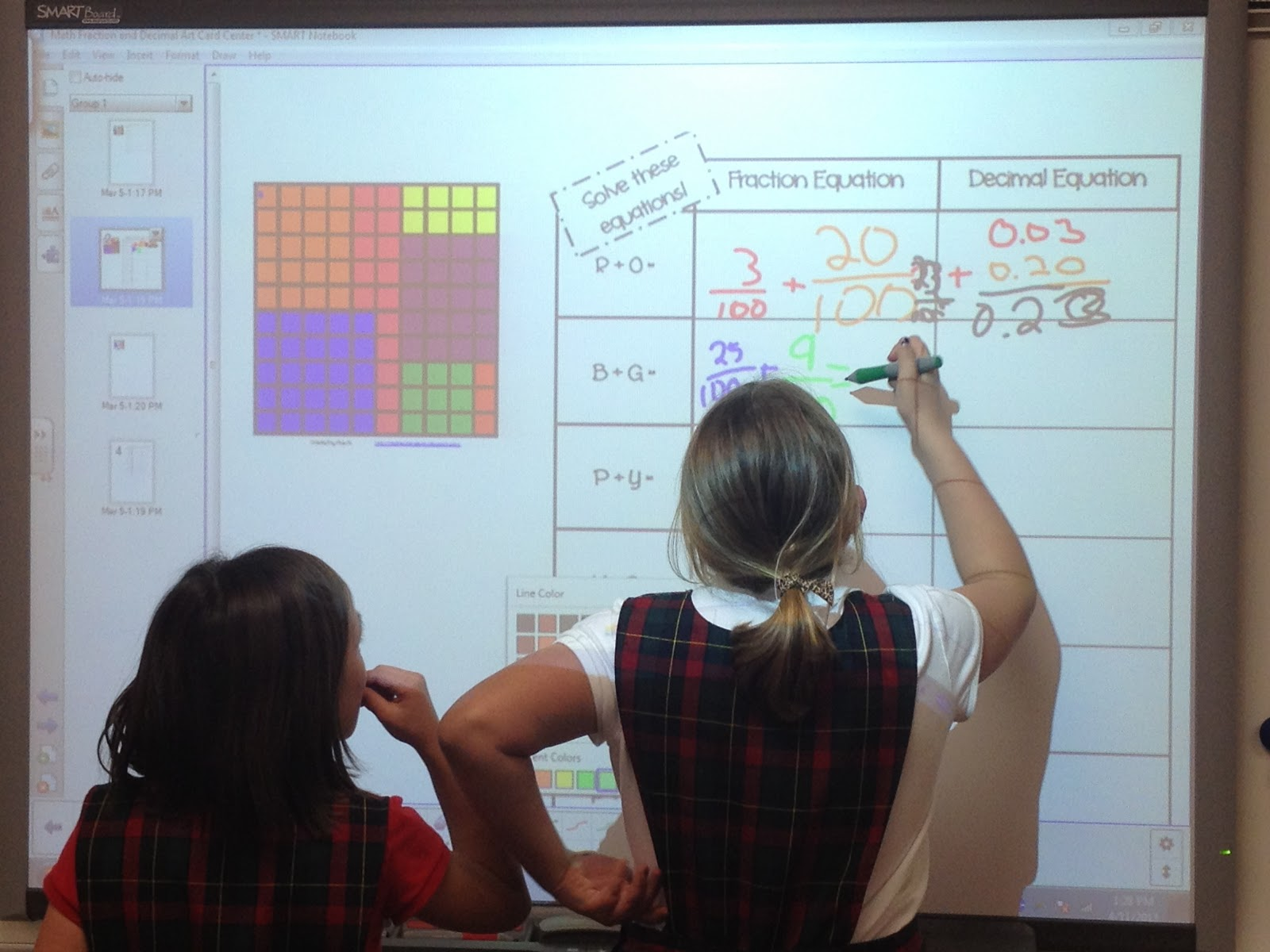 Real Teachers Learn Math Manipulatives And Fraction Art