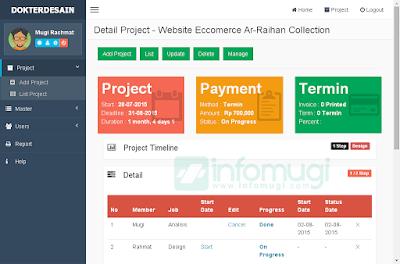 contoh web menpro, aplikasi yii dengan bootstrap