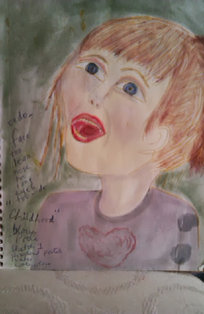 sketch child, first sketch ; was redone later, by Gloria Poole