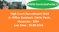 High Court Recruitment 2016