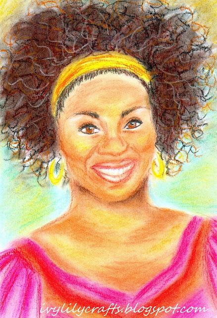 Mma Ramotswe pastel portrait painting