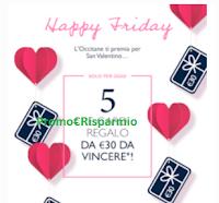 Logo Concorso ''Happy Friday'': vinci buoni spesa L'Occitane da 30€