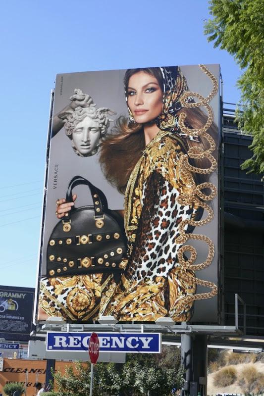 Gisele Bündchen Versace S18 billboard