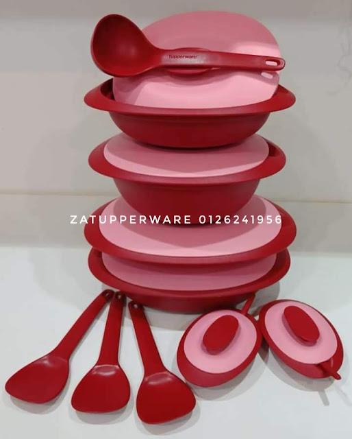 Tupperware Red Royal Rose Blossom set