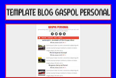 Gaspol Personal Blogger Template Free