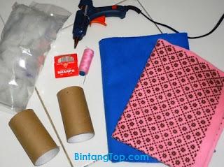 Membuat Pin Cushion dari Pipa Kardus Bekas